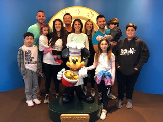 Family Picture at Chef Mickey's!